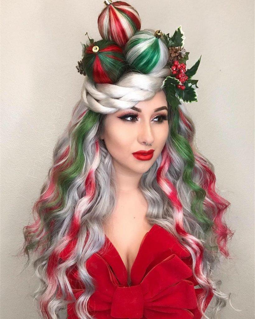 Christmas Hair Color Hairstyle Ideas For Festive Locks